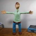 Finished Puppet Putty character