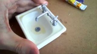 miniature stopmotion sink