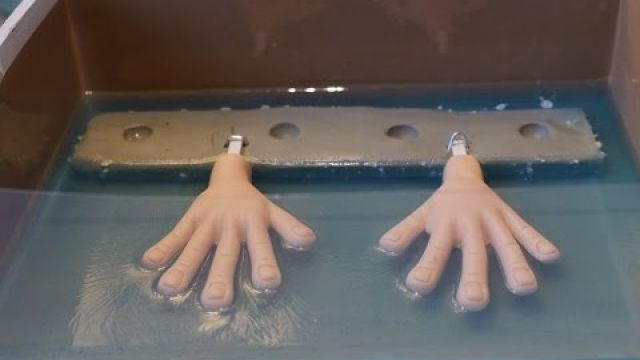 Moulding Hands of Stop Motion Puppet