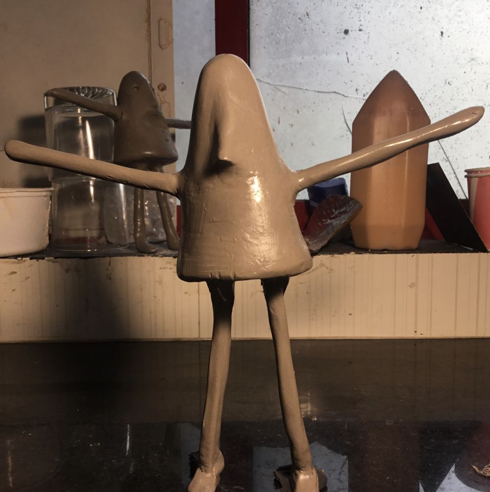 My New Project clay model, Trying to make Silicon mould for this puppet.