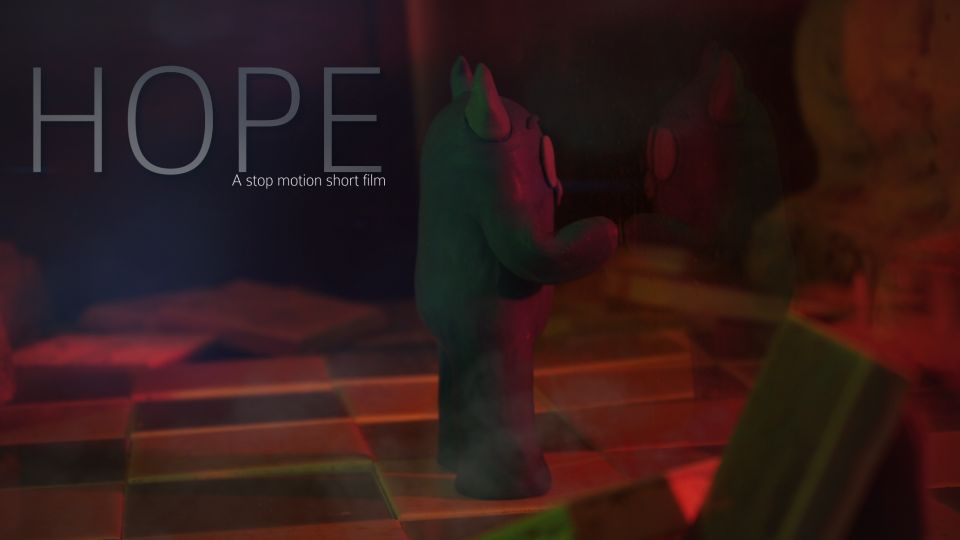 Cheek out the new poster for Hope - A stop motion short film !