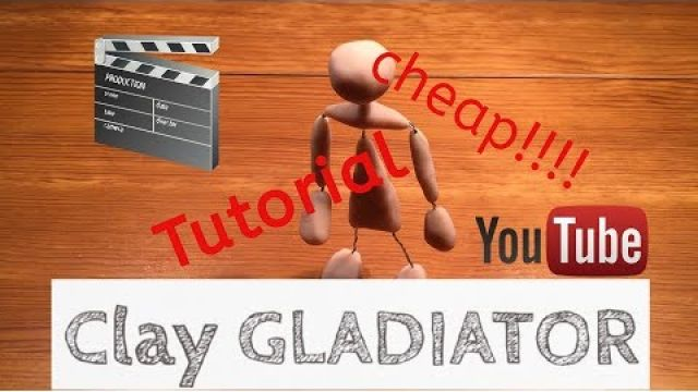 How to make a cheap stop motion armature-Part1Tutorial| Stop Motion | Clay Gladiator