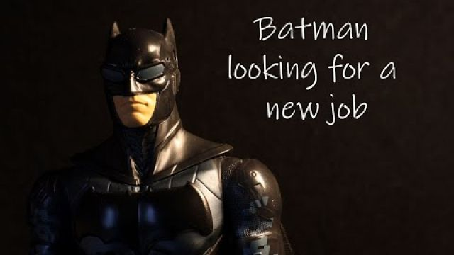 Batman looking for a new job - a stop motion short film.