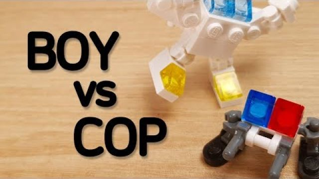 [4K] LEGO Movie - boy vs cop stop motion animation #1 - Trash