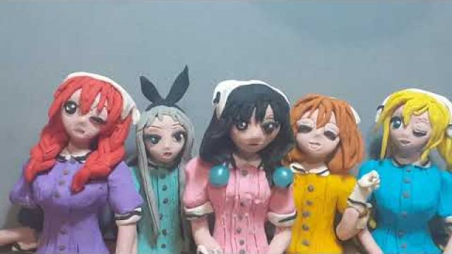 Blend S clay animation Smile, Sweet, Sister, Sadistic, Surprise, Service meme, stop motion.