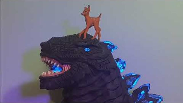 Bambi meets Godzilla, my claymation version
