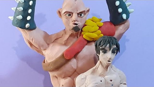 O mae wa mou shindeiru stop motion clay animation (hokuto no ken)