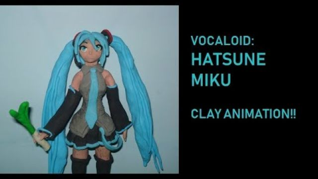 HATSUNE MIKU de plastilina. clay ANIMATION Play Doh