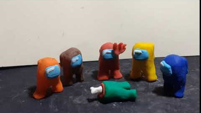 AMONG US clay animation